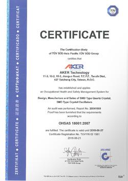 AKER OHSAS 18001:2007