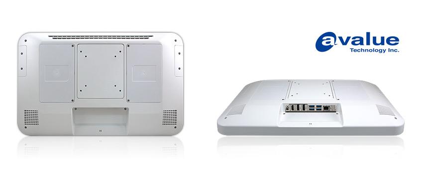 Panelowy, bezwentylatorowy komputer PC APC-1733 firmy Avalue dla aplikacji HMI na rynkach medycznych, administracji publicznej i punktów samoobsługowy