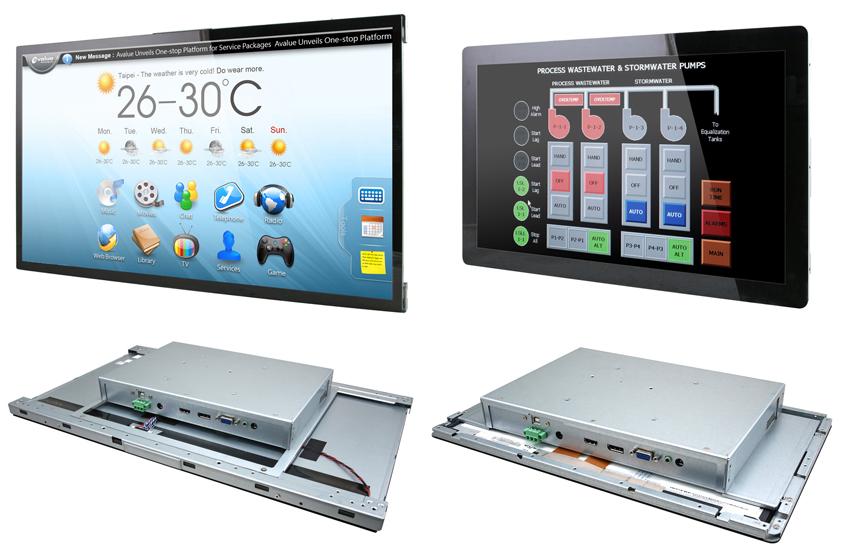 Wielodotykowe panele OFM (Open Frame Monitor) OFM-15W00/OFM-21W00 firmy Avalue dla szerokiego zakresu aplikacji konsumenckich i przemysłowych