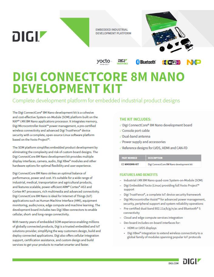 Digi ConnectCore® 8M Nano Development Kit