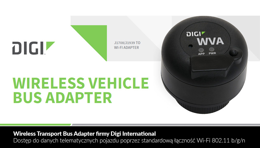 Wireless Transport Bus Adapter firmy Digi International