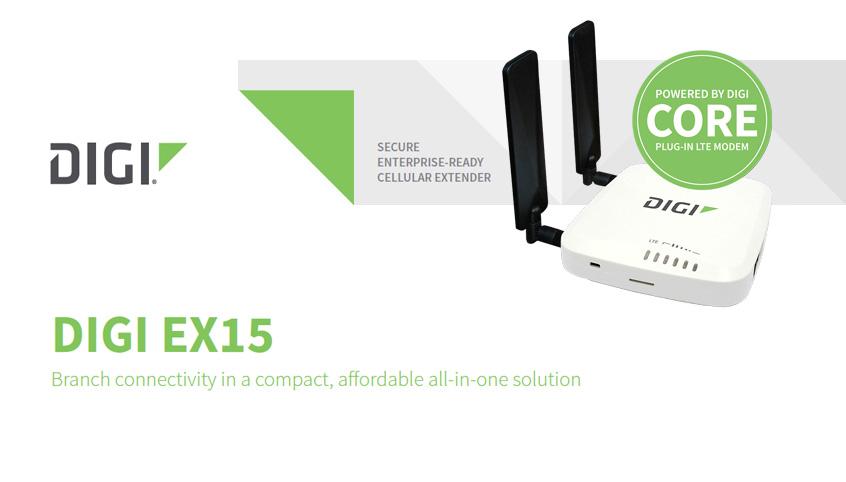 Digi EX15 komercyjnej klasy ekstender komórkowy LTE