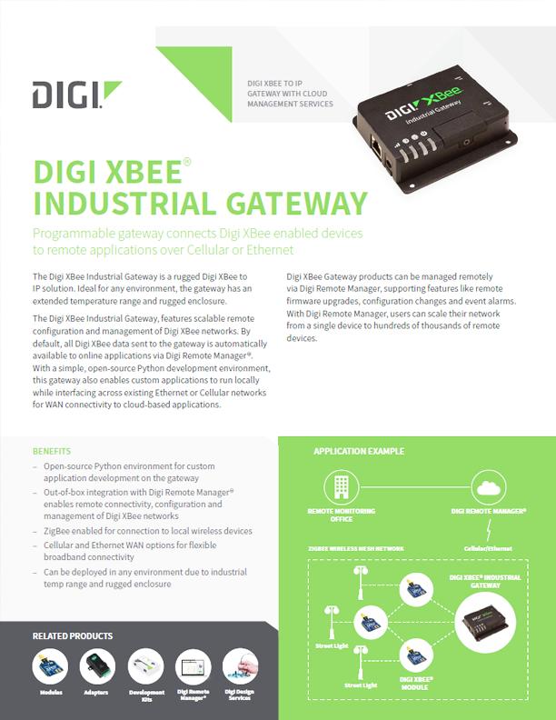 Digi XBee® Industrial Gateway