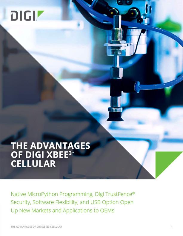Przewaga rozwiązań Digi XBee3™ Cellular