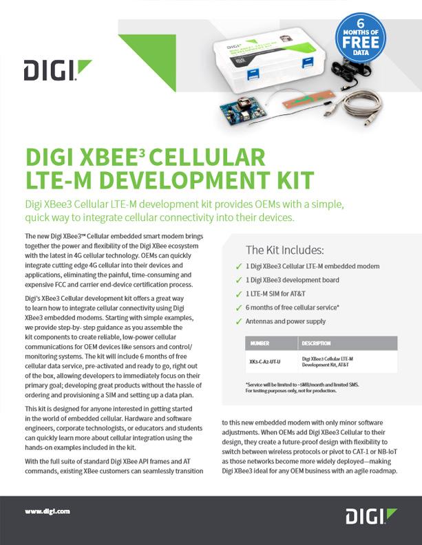 Digi XBee3™ Cellular LTE-M Development Kit