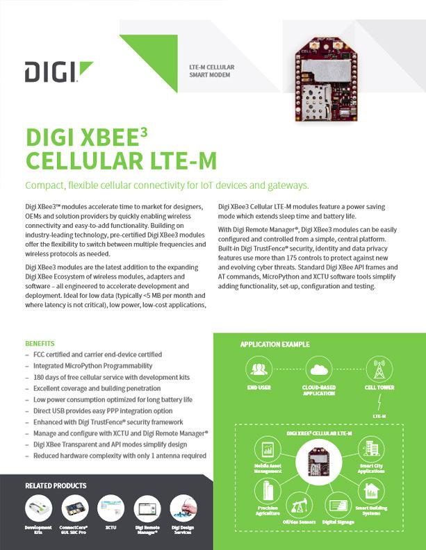 Digi XBee3™ Cellular LTE-M