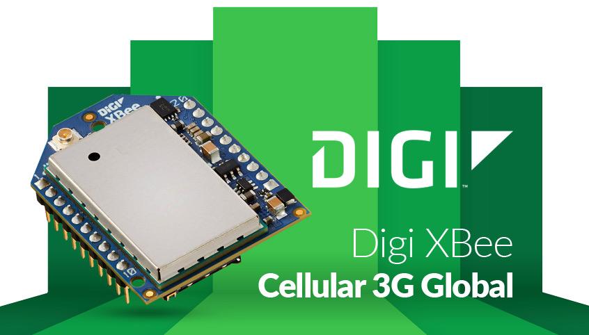 XBee Cellular 3G Global nowy moduł modemu komórkowego firmy Digi International (XBC-M5-UT-001)
