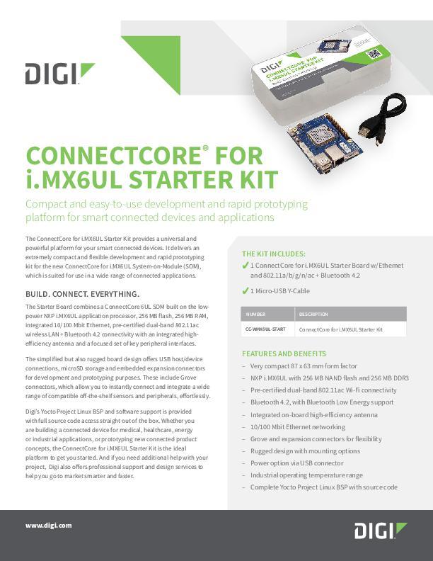 Digi ConnectCore® for i.MX6UL