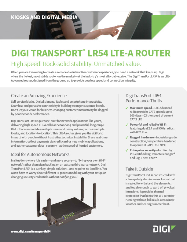 Digi TransPort® LR54