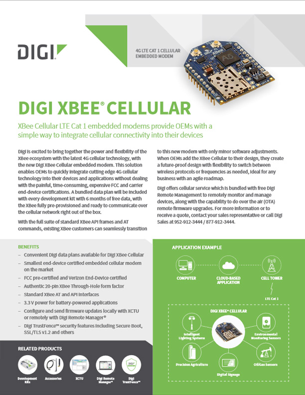 Digi XBee<sup>®</sup> Cellular