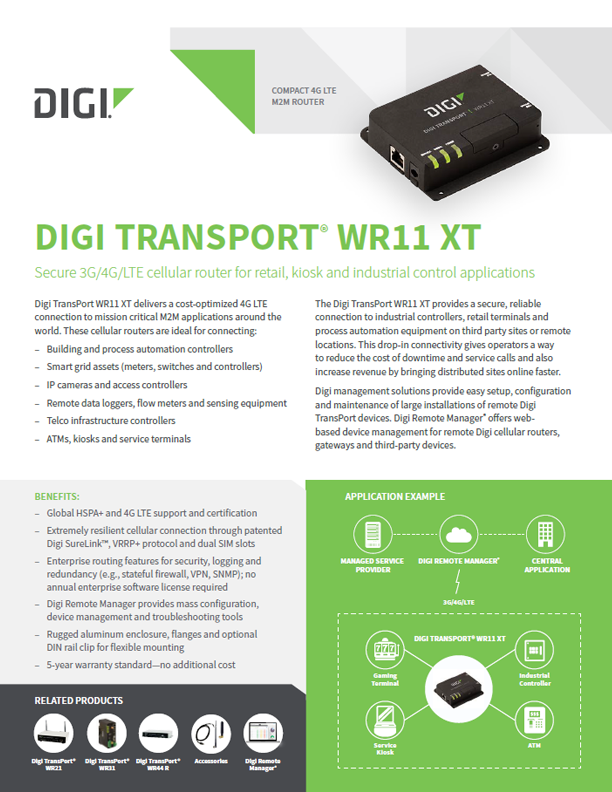Digi TransPort® WR11XT