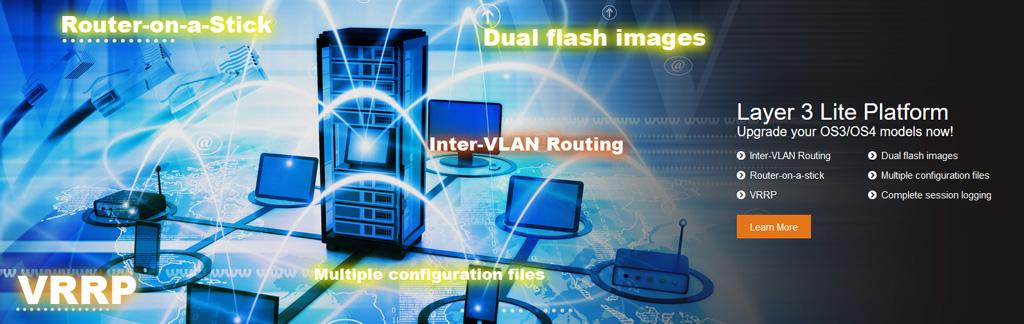 Layer3 Lite (dla OS3/OS4) to skalowalny i zaawansowany system operacyjny dla sprawnego zarządzania przełącznikami firmy Lantech