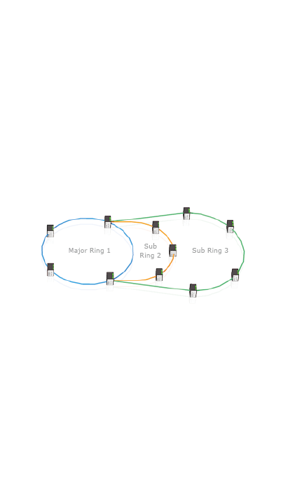 Multiple chain share common ends