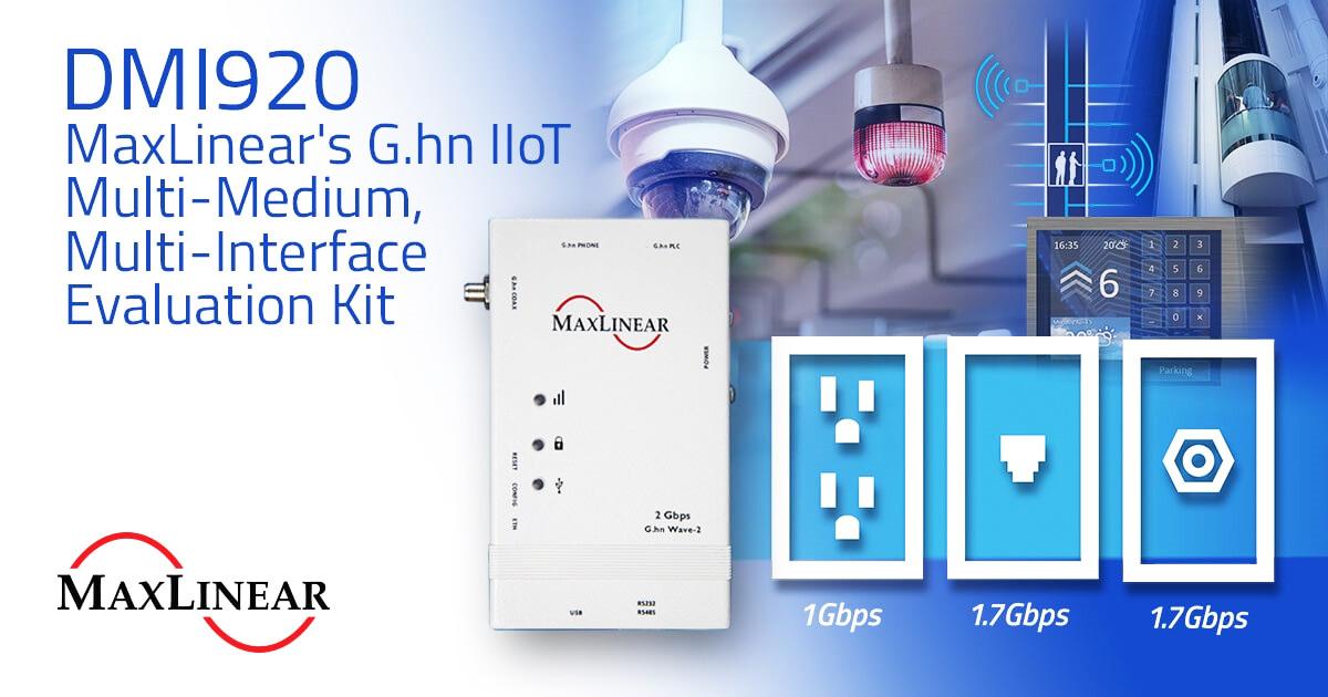 DMI920 platforma ewaluacyjna standardu G.hn firmy Maxlinear