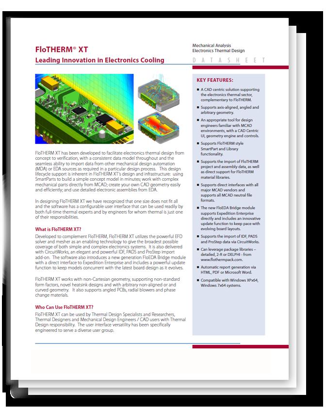 Simcenter FloTHERM XT - Idealne rozwiązanie do symulacji i projektowania układów chłodzenia elektroniki