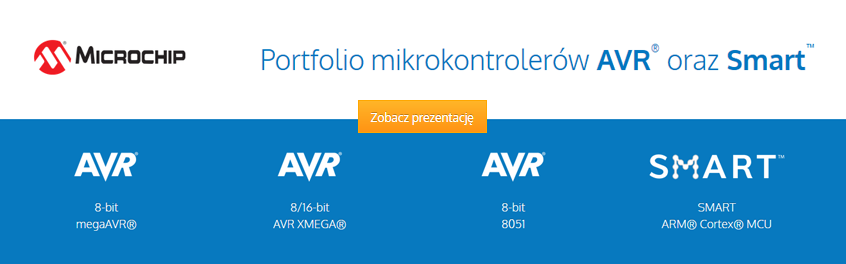 Portfolio mikrokontrolerów AVR® oraz Smart™ firmy Microchip