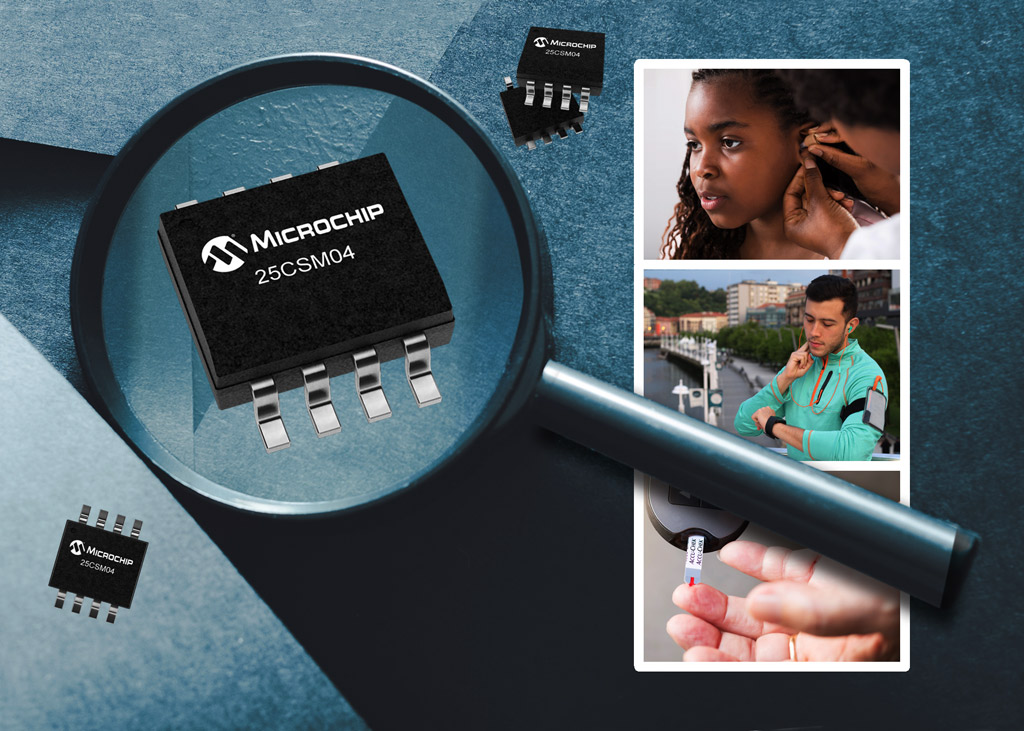 25CSM04 4 Mbit pamięć EEPROM firmy Microchip