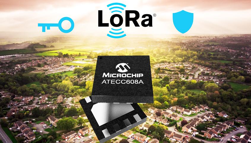 Układ ATECC608A-MAHTN-T firmy Microchip z technologią CryptoAuthentication dla bezpieczeństwa aplikacji LoRaWAN