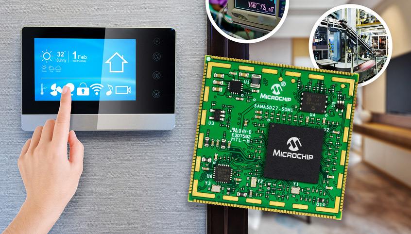 ATSAMA5D27-SOM1 rozwiązanie SoM firmy Microchip upraszcza przemysłowej klasy implementacje bare metal, RTOS oraz Linux