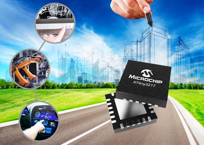 ATtiny3217 oraz ATtiny3216 nowe mikrokontrolery Microchip z zaawansowanymi funkcjami analogowymi oraz największymi w rodzinie pojemnościami pamięci