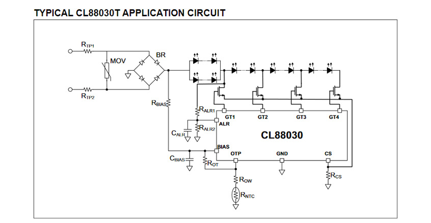 CL88030T/CL88031T sekwencyjne liniowe sterowniki diod LED firmy Microchip