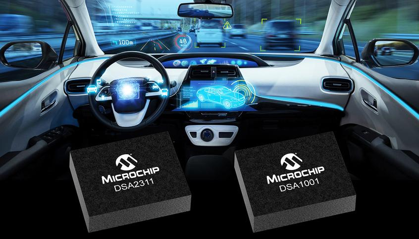 DSA nowa rodzina precyzycjnych i niezawodnych oscylatorów MEMS firmy Microchip przeznaczonych dla aplikacji motoryzacyjnych