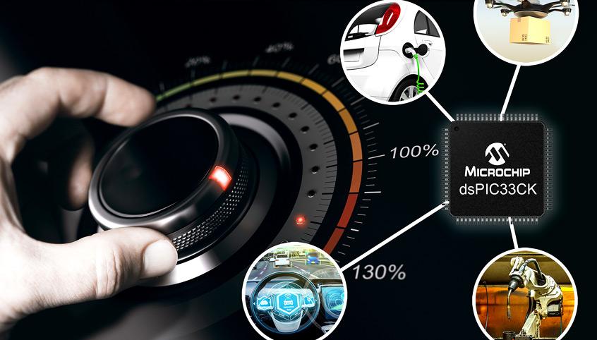 dsPIC33CK wydajna jednordzeniowa rodzina kontrolerów DSC firmy Microchip dla krytycznych aplikacji motor-control, motoryzacyjnych i medycznych