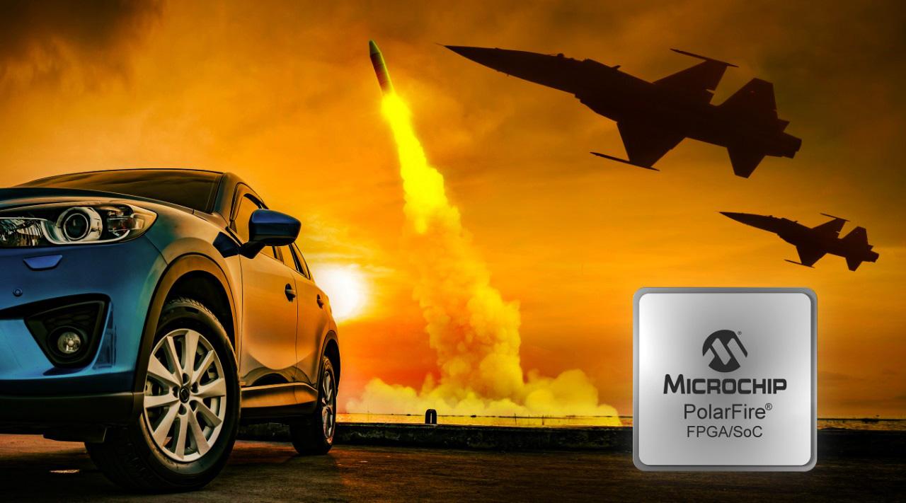 Układy FPGA PolarFire firmy Microchip zakwalifikowane dla specyfikacji temperaturowej klasy militarnej oraz motoryzacyjnej AEC-Q100