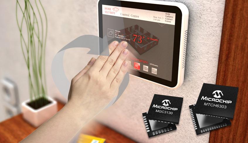 Technologia GestIC® firmy Microchip umożliwia tworzenie intuicyjnych, bezdotykowych interfejsów użytkownika sterowanych gestami