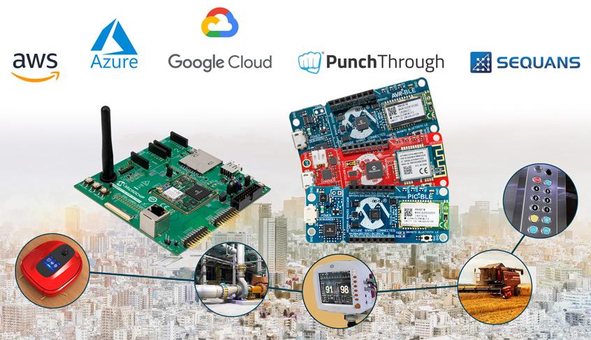 Nowe zestawy rozwojowe IoT firmy Microchip umożliwiają łączność z chmurami danych przy pomocy Wi-Fi®, Bluetooth® lub narrowband 5G