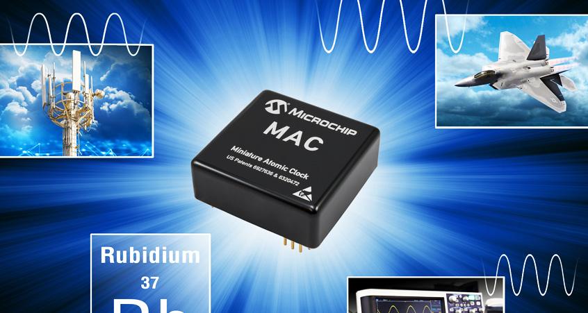 MAC-SA5X nowej generacji rubidowy zegar atomowy firmy Microchip