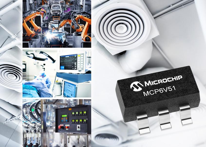 MCP6V51 wzmacniacz operacyjny o zerowym dryfowaniu firmy Microchip dla sieci zdalnych czujników oraz aplikacji IoT
