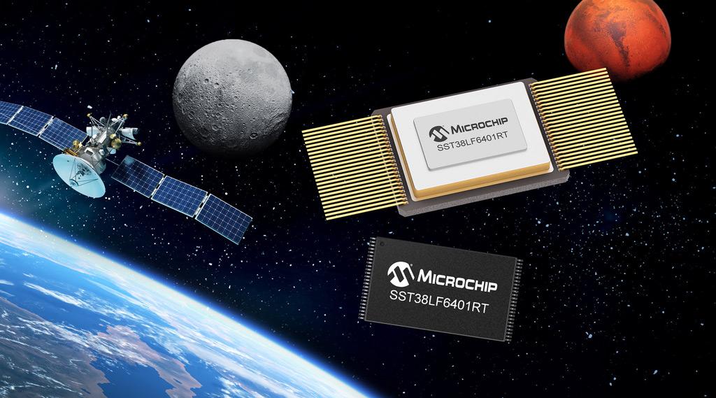 Odporne na promieniowanie 64-megabitowe równoległe pamięci SuperFlash firmy Microchip