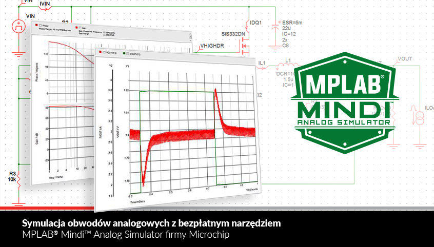 MPLAB® Mindi™ Analog Simulator firmy Microchip - symulacja obwodów analogowych