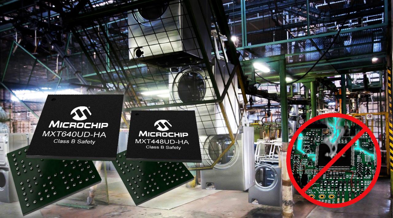 MXT448UD-HA i MXT640UD-HA nowe kontrolery ekranów dotykowych firmy Microchip zgodne ze specyfikacją IEC61000-4-6 klasy A dla wysokiej odporności