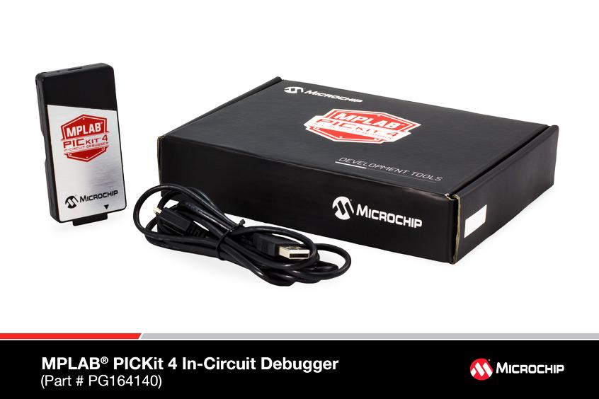 MPLAB® PICKit 4 In-Circuit Debugger (#PG164140) - usprawnione narzędzie programistyczne firmy Microchip o pięciokrotnie zwiększonej wydajności