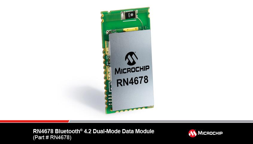 RN4678 nowy energooszczędny, dwutrybowy moduł Bluetooth 4.2 (BLE/BR/EDR) firmy Microchip