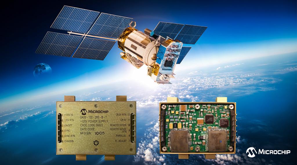 Wzmocnione przed promieniowaniem przetwornice DC-DC SA50-120 firmy Microchip rozszerzają portfolio produktów COTS