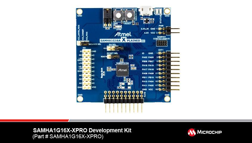 SAMHA1GxxA nowe mikrokontrolery ARM Cortex firmy Microchip z obsługą LIN oraz dotyku pojemnościowego dla aplikacji motoryzacyjnych