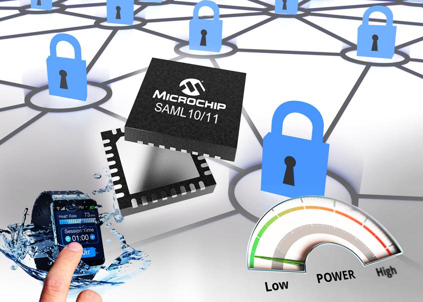 SAM L10 oraz L11 nowe mikrokontrolery firmy Microchip dla bezpiecznych aplikacji IoT z niskim poborem mocy i dotykiem pojemnościowym