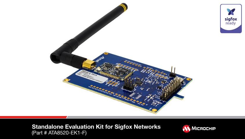 Certyfikowany transceiver ATA8520E oraz zestawy deweloperskie firmy Microchip z obsługą sieci Sigfox dla urządzeń IoT oraz M2M