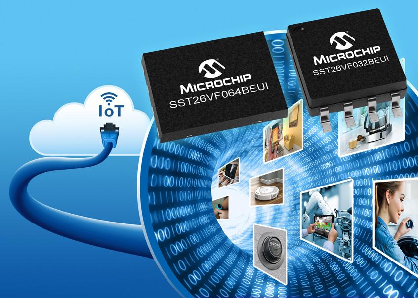 Microchip SST26VF nowa seria pamięci Flash Serial Quad I/O™ (SQI™) ze wstępnie zaprogramowanym adresem MAC dla aplikacji IoT o niskim wolumenie produkcyjnym