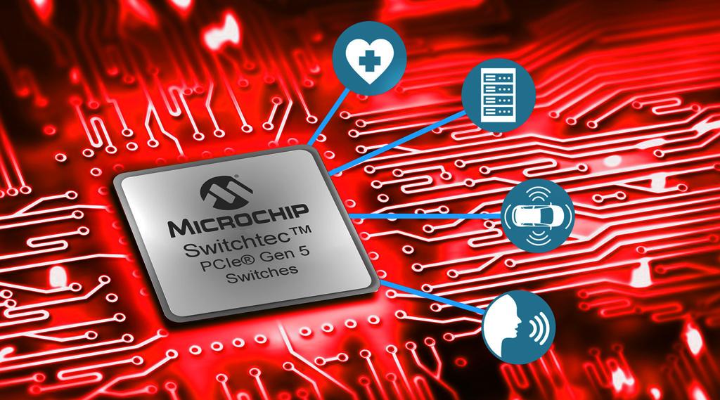 Microchip wprowadza pierwsze na świecie switche oraz retimery PCI Express (PCIe) 5.0