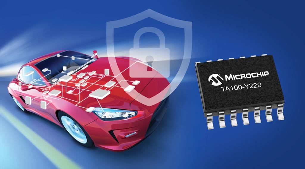 TrustAnchor100 (TA100) nowy układ towarzyszący firmy Microchip z rodziny CryptoAutomotive™ dla zapewnienia bezpieczeństwa podłączonych aplikacji motor