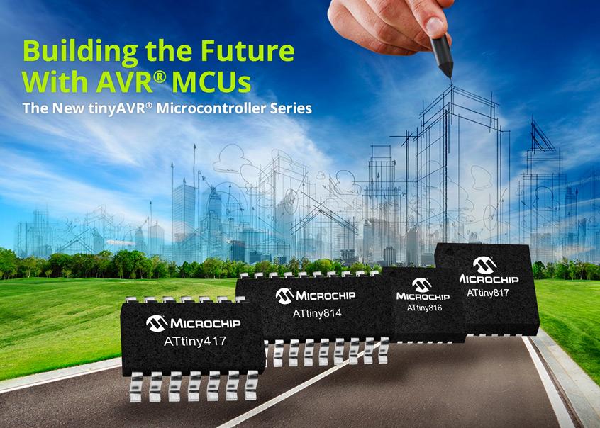 ATtiny817/816/814/417 nowe, małe mikrokontrolery Microchip rodziny tinyAVR z wbudowanymi jednostkami CIP