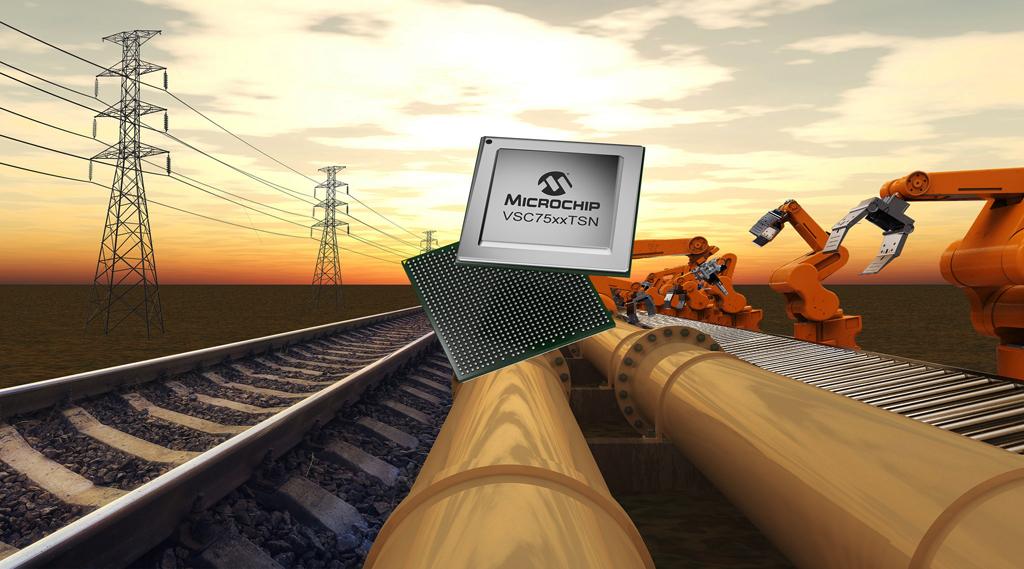 Nowa rodzina przełączników Ethernet SparX-5i firmy Microchip zapewnia najbardziej kompletny zestaw funkcji TSN, dla aplikacji wrażliwych na czas