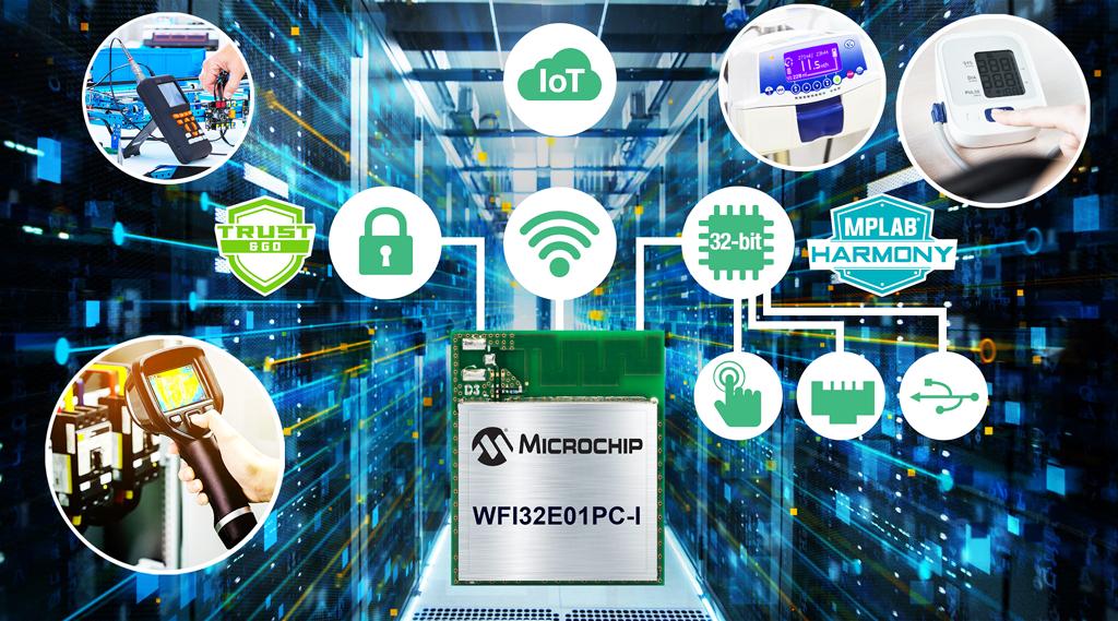 WFI32E01PC pierwszy w historii moduł mikrokontrolera z Wi-Fi firmy Microchip integrujący platformę bezpieczeństwa Trust&GO