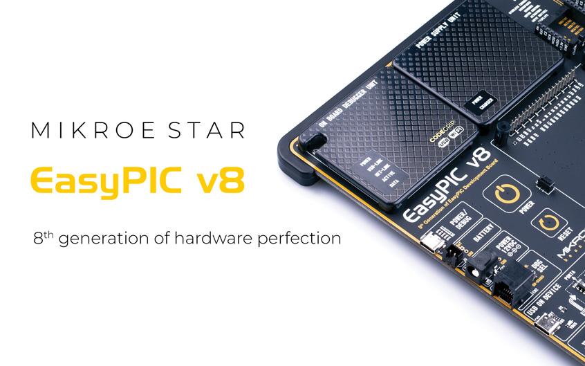 MikroElektronika EasyPIC v8 nowa płyta rozwojowa dla 8-bitowych mikrokontrolerów PIC firmy Microchip