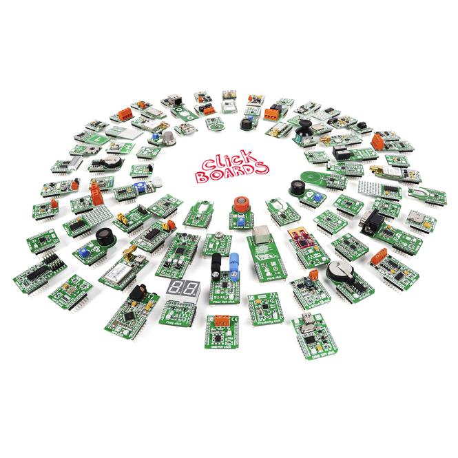 Rozszerzenia MikroElektronika takie jak uniwersalne płytki ClickBoards™