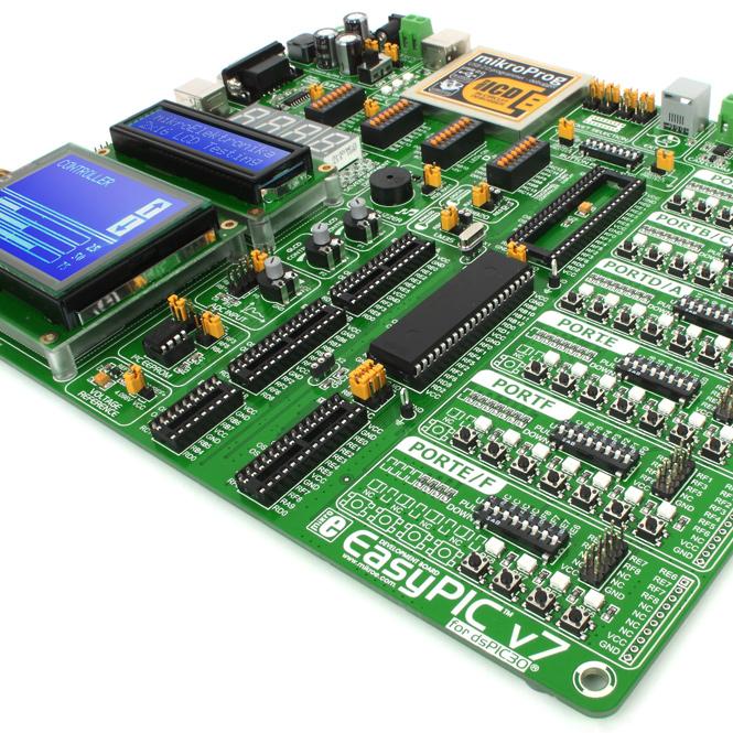 Zestawy deweloperskie MikroElektronika, wtym m.in. płytki EasyPIC PRO v7